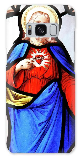 Sacred Heart Galaxy Case - Jesus's Sacred Heart by Unknown