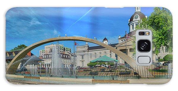 Jet Over City Hall Galaxy Case