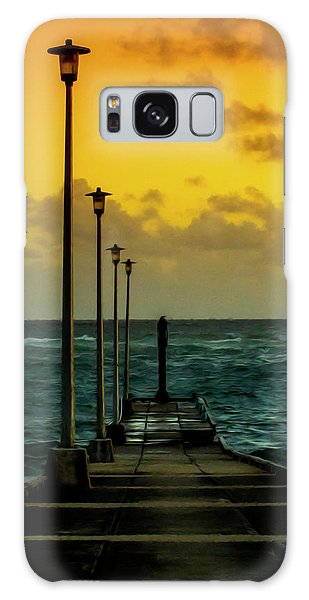 Jetty At Sunrise Galaxy Case