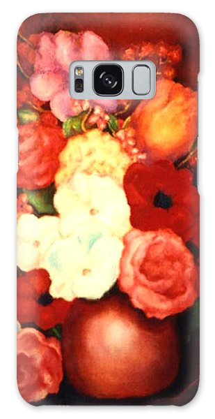 Jewel Flowers Galaxy Case