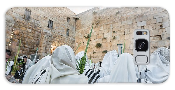 Jewish Sunrise Prayers At The Western Wall, Israel 10 Galaxy Case