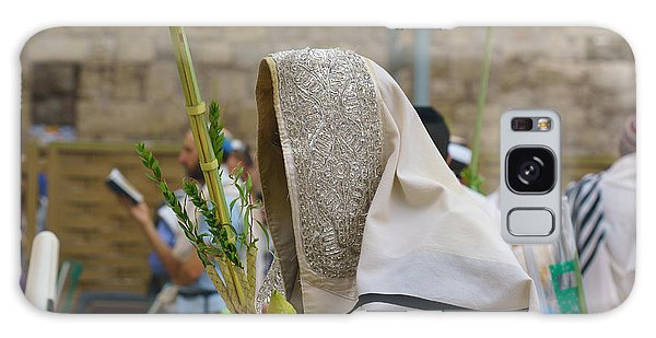 Jewish Sunrise Prayers At The Western Wall, Israel 7 Galaxy Case