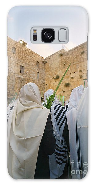 Jewish Sunrise Prayers At The Western Wall, Israel 9 Galaxy Case