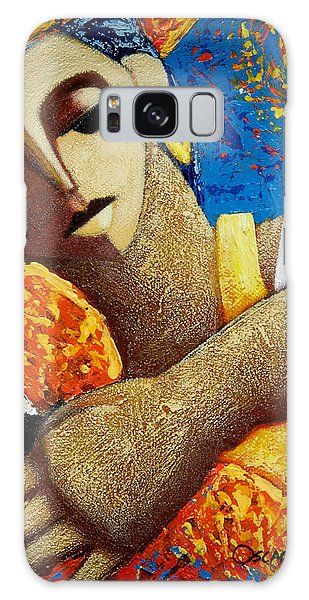 Galaxy Case featuring the painting Jibara Y Sol by Oscar Ortiz