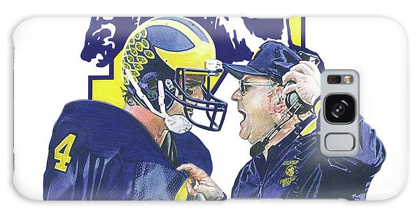 Sport Art Galaxy Case - Jim Harbaugh And Bo Schembechler by Chris Brown