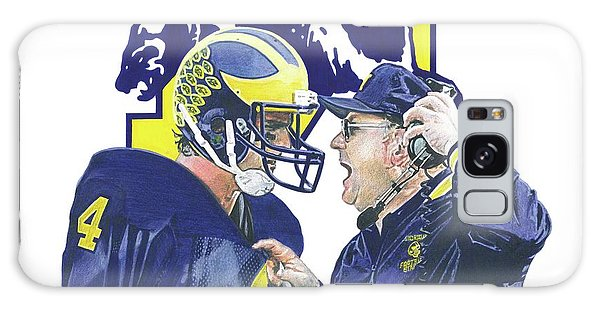 Jim Harbaugh And Bo Schembechler Galaxy Case