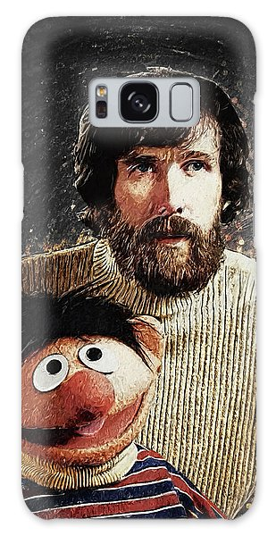 Jim Henson With Ernie Galaxy Case by Taylan Apukovska