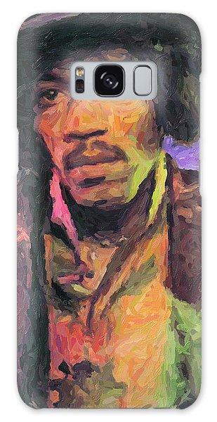 Jimi Hendrix Painting Galaxy Case