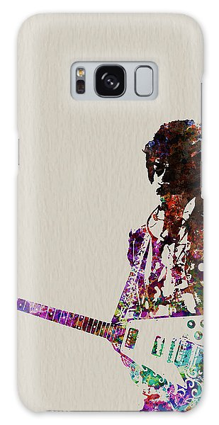 Rock And Roll Galaxy S8 Case - Jimmy Hendrix With Guitar by Naxart Studio