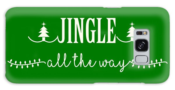 Jingle All The Way Galaxy Case by Heidi Hermes