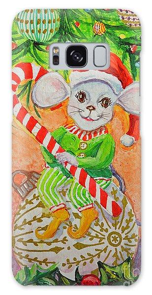 Jingle Mouse Galaxy Case by Li Newton