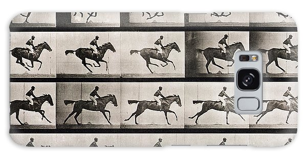 Horse Galaxy Case - Jockey On A Galloping Horse by Eadweard Muybridge
