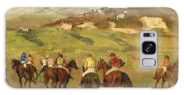 Hills Galaxy Case - Jockeys On Horseback Before Distant Hills by Edgar Degas
