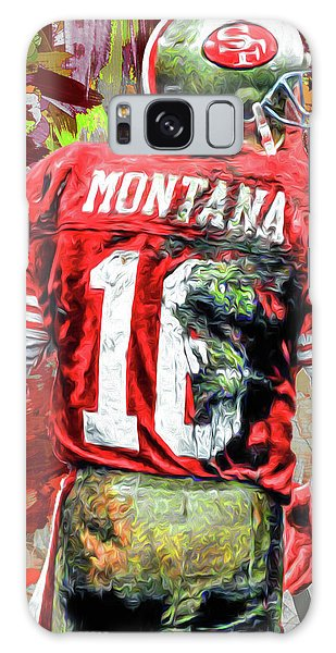 Joe Montana Football Digital Fantasy Painting San Francisco 49ers Galaxy Case