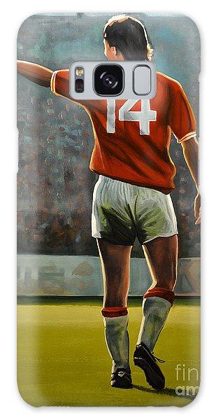 Barcelona Galaxy S8 Case - Johan Cruyff Oranje Nr 14 by Paul Meijering