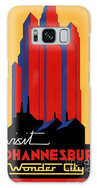 Johannesburg Vintage Travel Poster Restored Galaxy Case by Carsten Reisinger