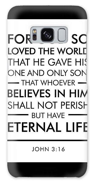 John 3-16 - Spiritual Wall Art - Bible Verses Art Galaxy Case