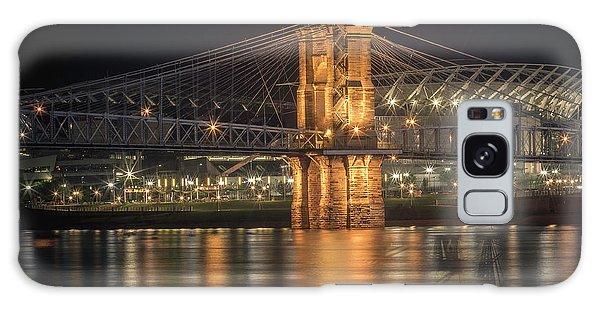 John A. Roebling Suspension Bridge Galaxy Case by Scott Meyer
