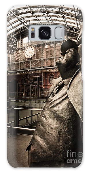 John Betjeman And Dent Clockat St Pancras Railway Station Galaxy Case
