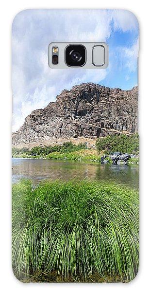 John Day River Landscape In Summer Portrait Galaxy Case