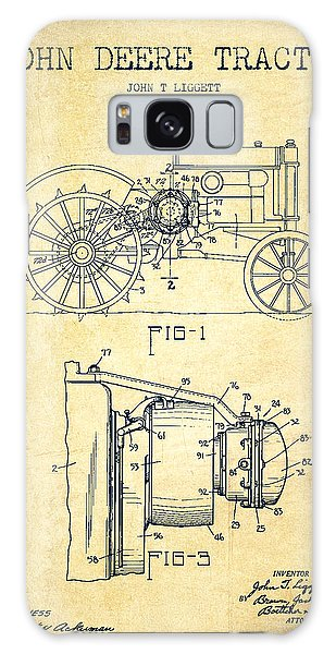 Patent Galaxy Case - John Deere Tractor Patent Drawing From 1934 - Vintage by Aged Pixel