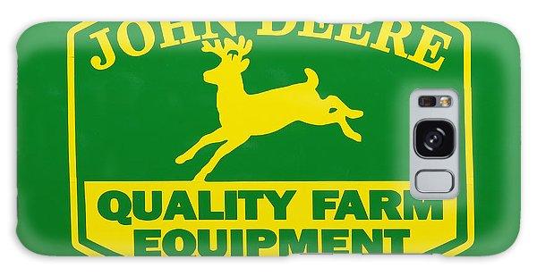 John Deere Farm Equipment Sign Galaxy Case by Randy Steele