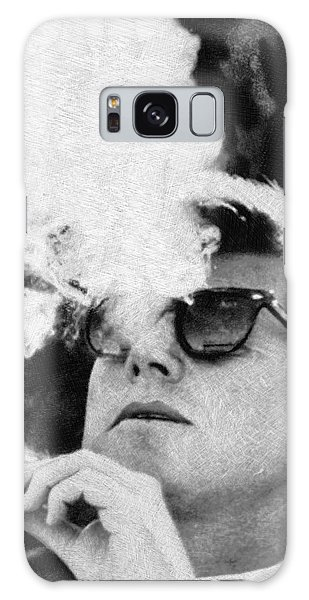 John F Kennedy Cigar And Sunglasses Black And White Galaxy Case