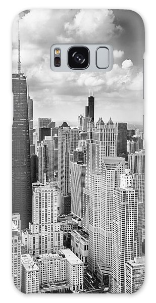 Chicago Art Galaxy Case - John Hancock Building In The Gold Coast Black And White by Adam Romanowicz