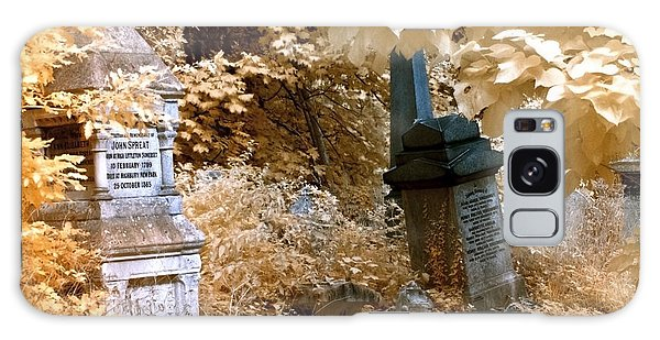 Autumnal Walk At Abney Park Cemetery Galaxy Case