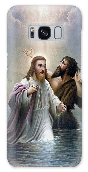 Savior Galaxy Case - John The Baptist Baptizes Jesus Christ by War Is Hell Store