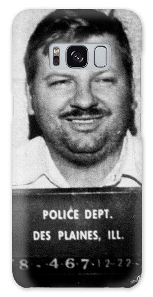 John Wayne Gacy Mug Shot 1980 Black And White Galaxy Case