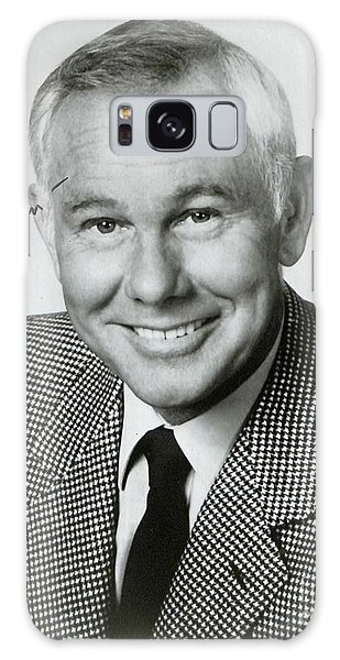 Johnny Carson Galaxy Case - Johnny Carson Autographed Print by Pd