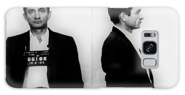 Johnny Cash Galaxy S8 Case - Johnny Cash Mug Shot Horizontal by Tony Rubino