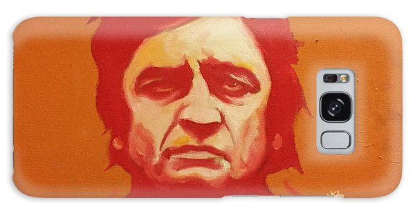 Johnny Cash Orange Galaxy Case by Matt Burke