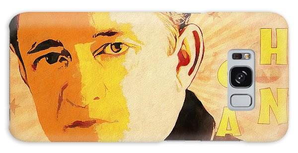Folk Singer Galaxy Case - Johnny Cash Poster  by Dan Sproul