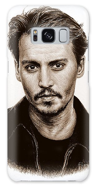 Johnny Depp Sepia Galaxy Case