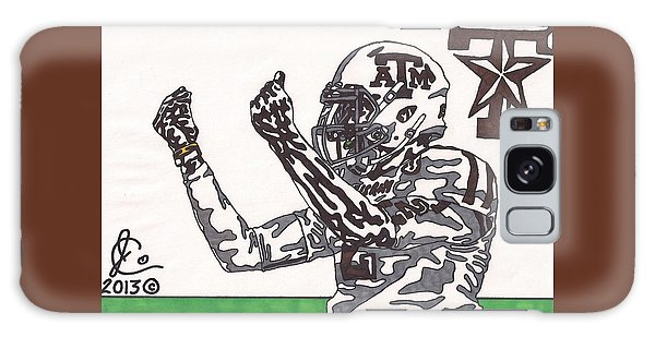 Johnny Manziel 10 Change The Play Galaxy Case by Jeremiah Colley