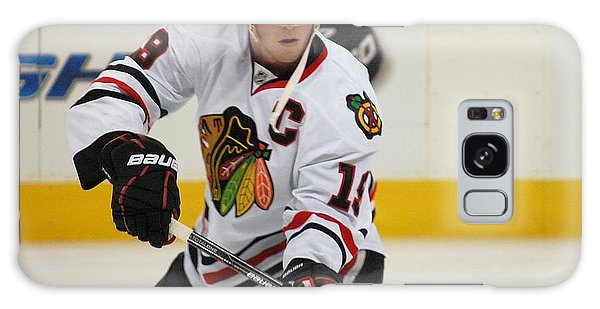 Jonathan Toews - Action Shot Galaxy Case by Melissa Goodrich