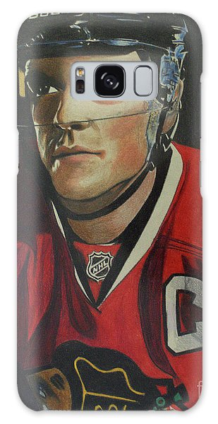 Jonathan Toews Portrait Galaxy Case