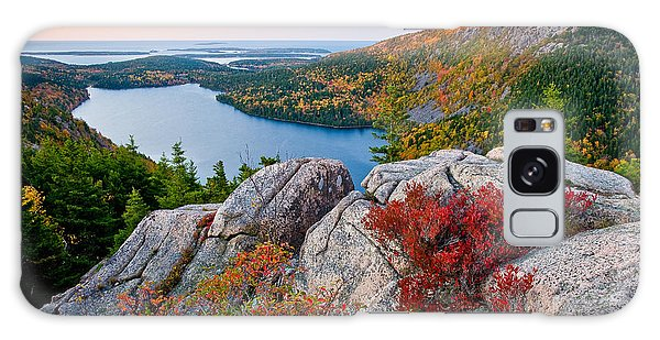Jordan Pond Sunrise  Galaxy Case by Susan Cole Kelly