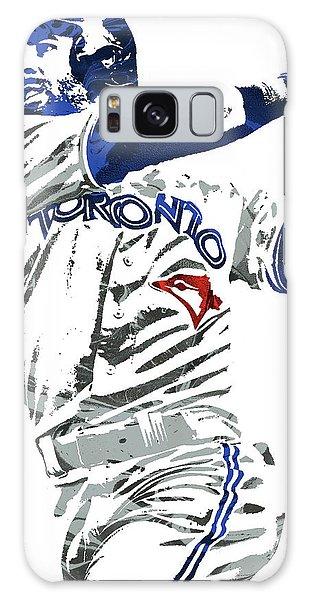 Jose Bautista Toronto Blue Jays Pixel Art 2 Galaxy Case by Joe Hamilton
