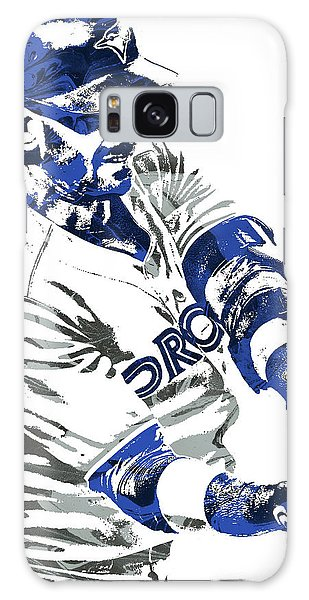 Jose Bautista Toronto Blue Jays Pixel Art Galaxy Case by Joe Hamilton