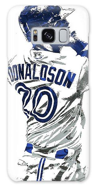 Josh Donaldson Toronto Blue Jays Pixel Art Galaxy Case by Joe Hamilton