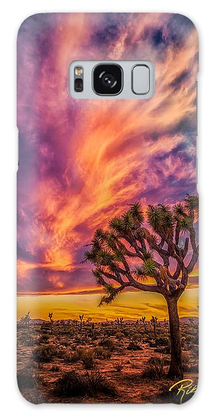 Joshua Tree In The Glowing Swirls Galaxy Case