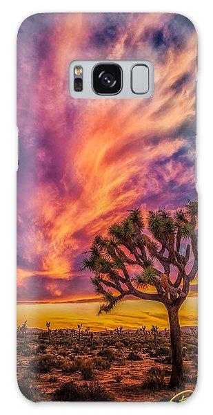 Joshua Tree In The Glowing Swirls Galaxy Case