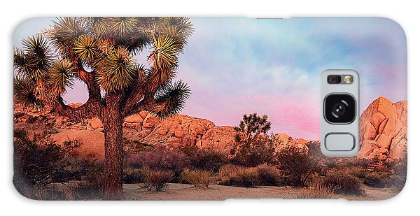 Joshua Tree With Dawn's Early Light Galaxy Case