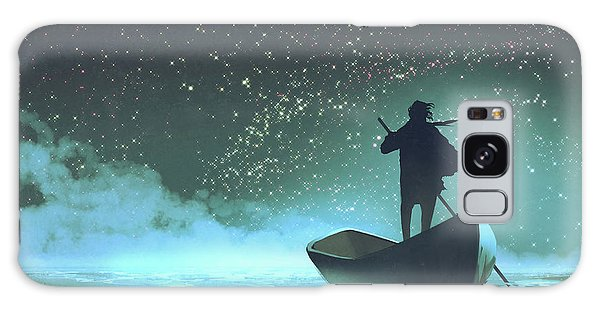 Galaxy Case featuring the painting Journey To The New World by Tithi Luadthong