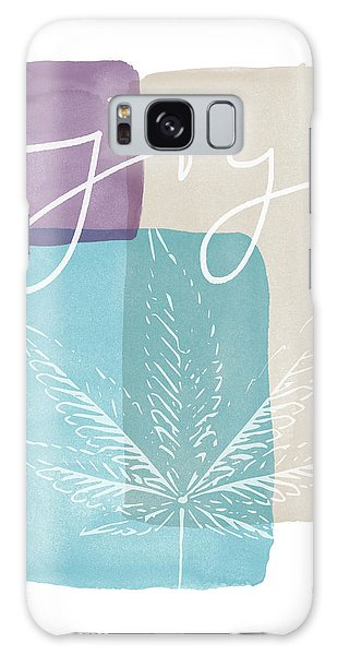 Joy Cannabis Leaf Watercolor- Art By Linda Woods Galaxy Case by Linda Woods