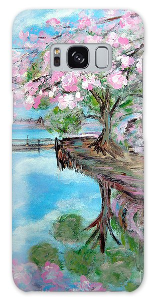 Joy Of Spring. Acrylic Painting For Sale Galaxy Case