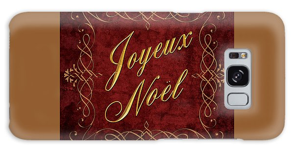 Joyeux Noel In Red And Gold Galaxy Case by Caitlyn  Grasso